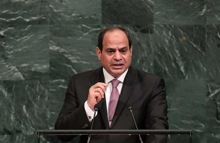 """السيسي يحث إسرائيل على أن تكرر مع الفلسطينيين تجربة السلام """"الرائعة"""""""