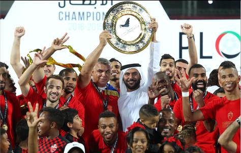 أهلي دبي يحرز بطولة دوري الخليج العربي لكرة القدم