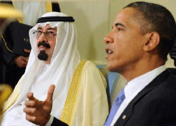 العاهل السعودي يبحث مع أوباما أوضاع المنطقة