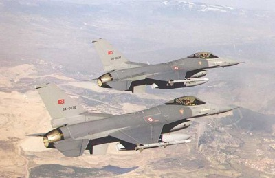 مقاتلات تركية تسقط طائرة حربية سورية فوق إدلب