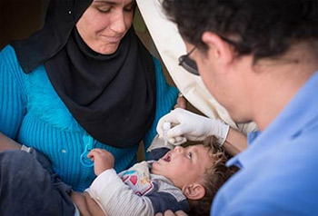 استكمال حملة تطعيم ضد شلل الأطفال في سوريا