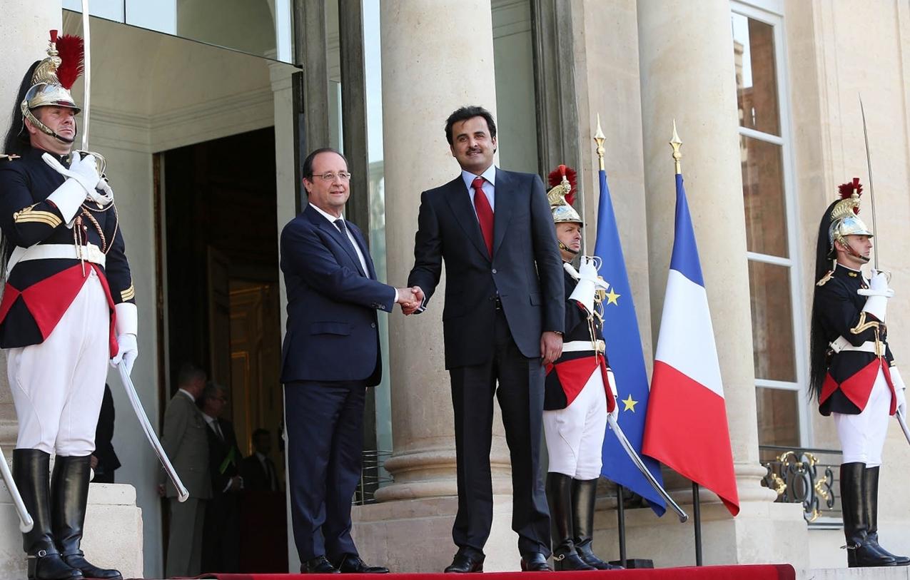 رئيس الوزراء القطري يلتقي كبار المسؤولين الفرنسيين في باريس
