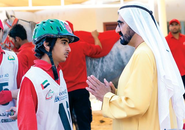 محمد بن راشد: فرسان الإمارات رقماً صعباً في البطولات العالمية