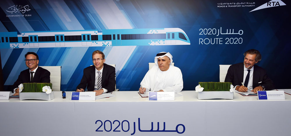 «طرق دبي» توقّع عقد «مسار 2020» بـ 10.6 مليارات درهم