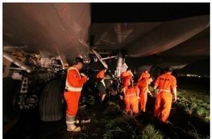 انحراف طائرة سعودية عن المدرج في مطار مانيلا