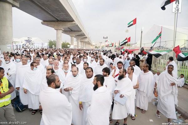 نظام متطور لتبريد مخيمات حجاج الإمارات
