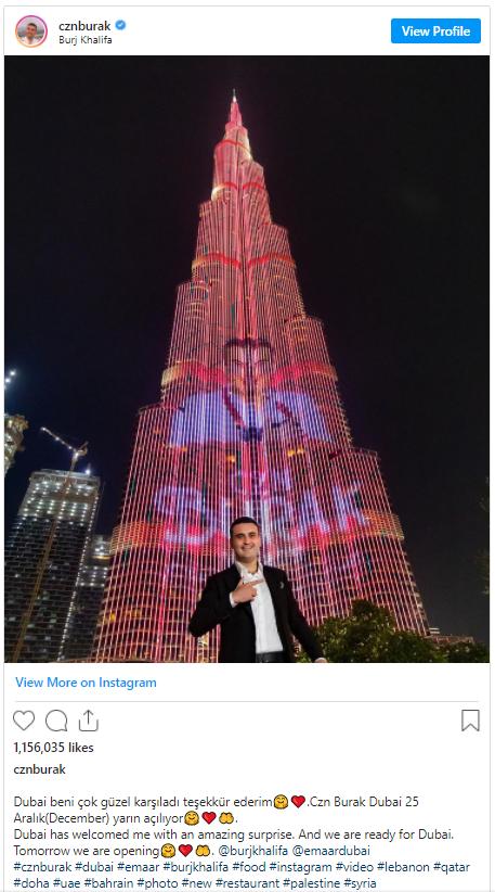 رغم التحريض على مقاطعة تركيا.. برج خليفة بدبي يحتفي ...